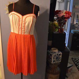 Vintage Orange Day Dress